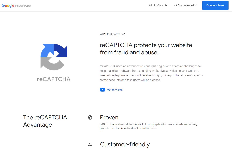 SPAM防止に役立つGoogle reCaptchaを導入しました。
