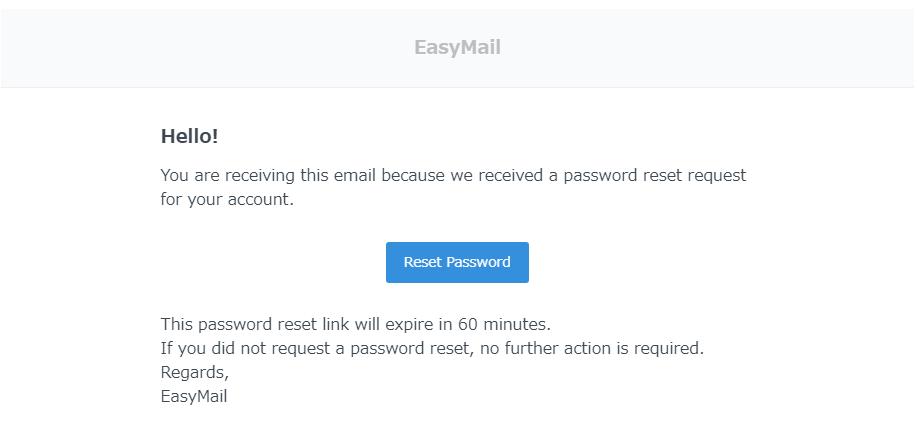 パスワード再設定メール