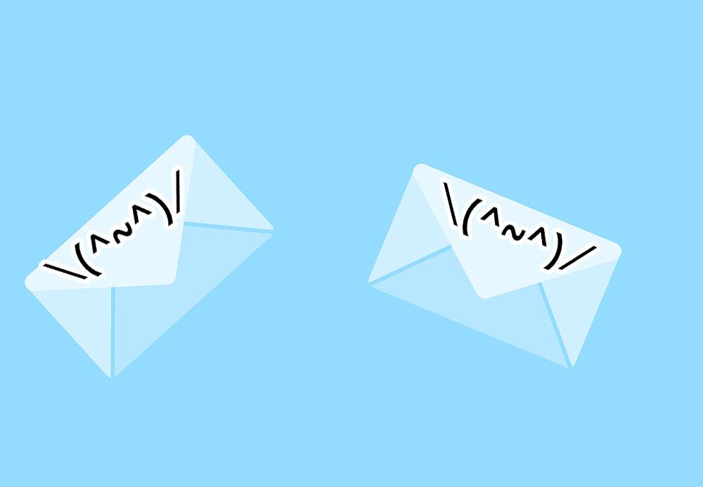 メールで使う顔文字